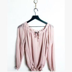 EXPRESS women's pink sheer blouse small